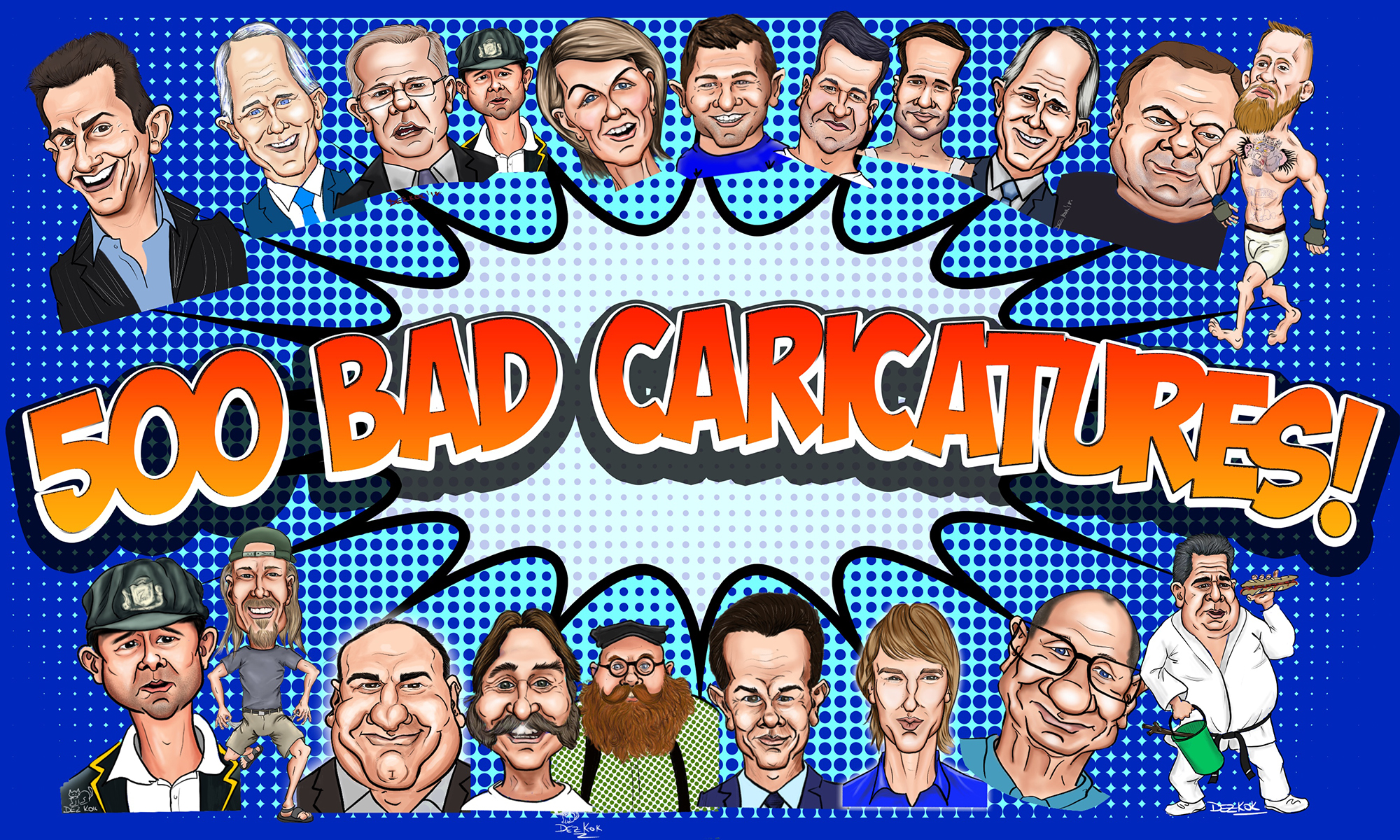 500 Bad Caricatures